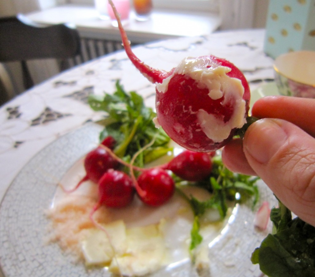 Afternoon Indulgence / Radishes, Done Right