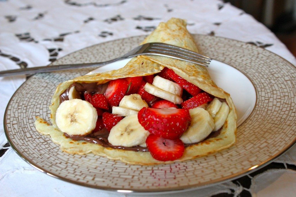 Homemade Strawberry-Banana-Nutella Crepes – Ramshackle Glam