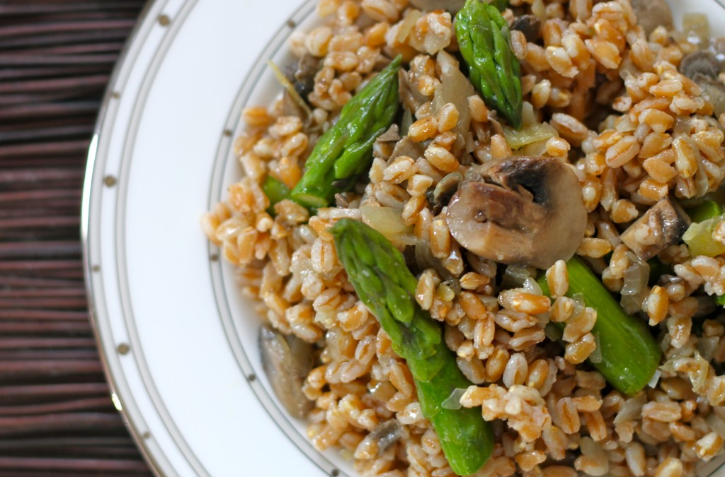farro mushroom asparagus salad lately i am so weirdly into farro it s ...
