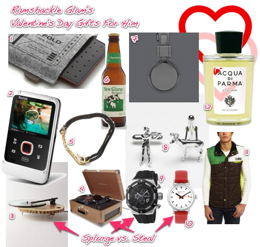 Creative valentine gifts for him 2015