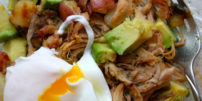 Even Better: Pulled Pork Hash With Avocado & A Poached Egg