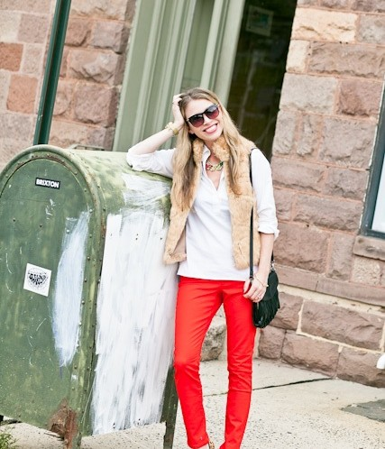How-To: Wear Red Jeans (Without Looking Like Santa Claus)