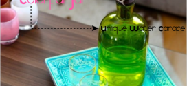 Entertaining Inspiration: Colorful Jar As Unique Water (Or Wine) Carafe