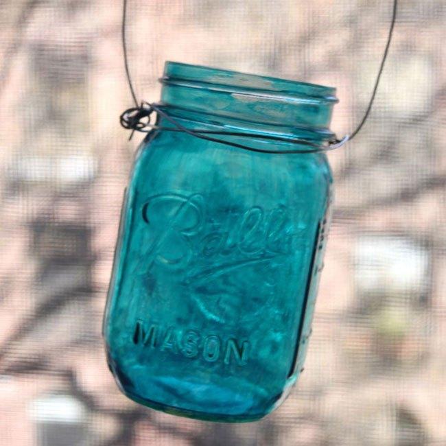 how to make mason jar hanging lanterns