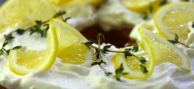Lemon Angel Food Layer Cake