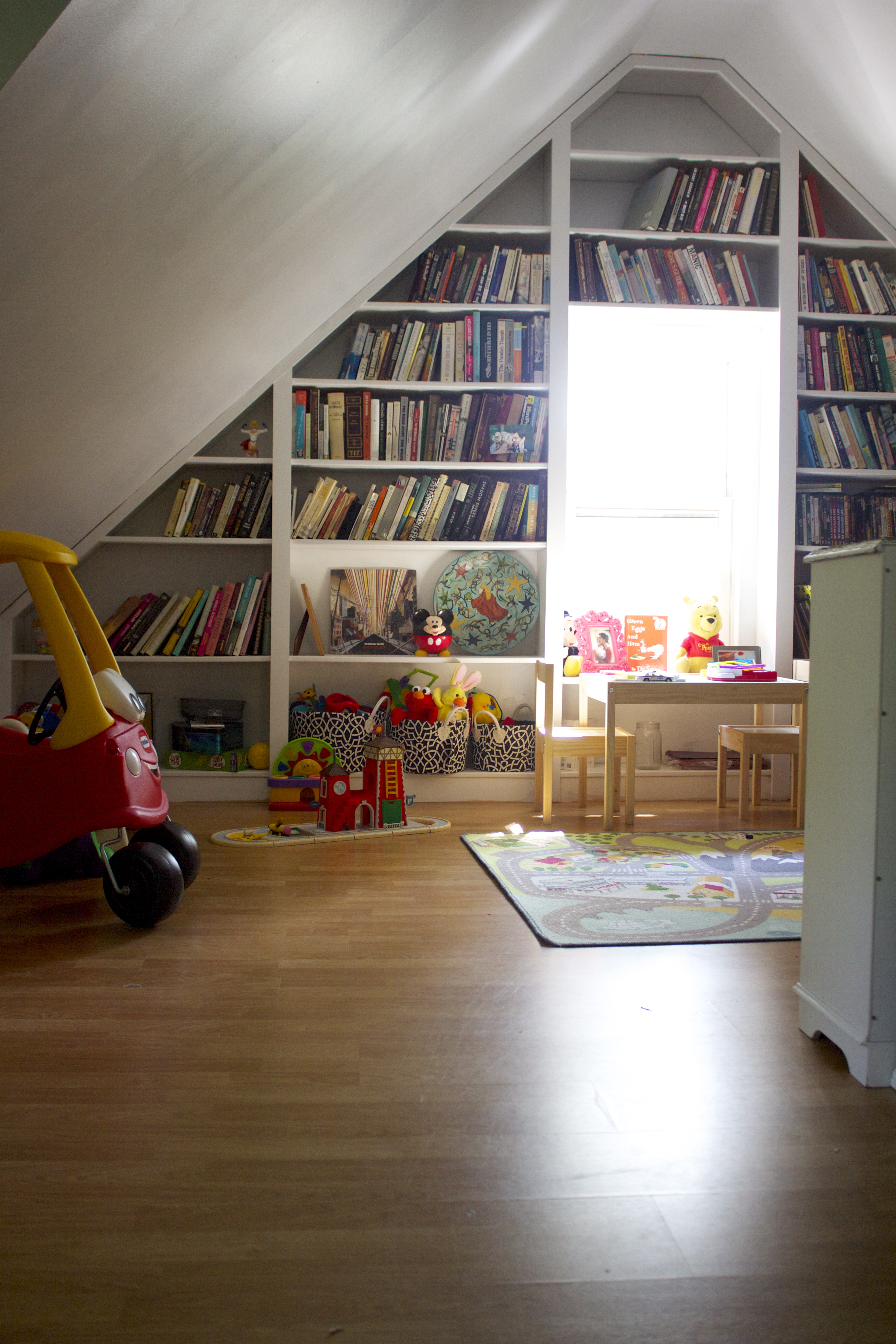 Playroom: Attic: Before And After