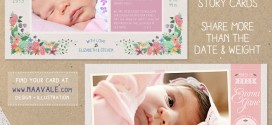 Birth Announcements by Naavale Designs
