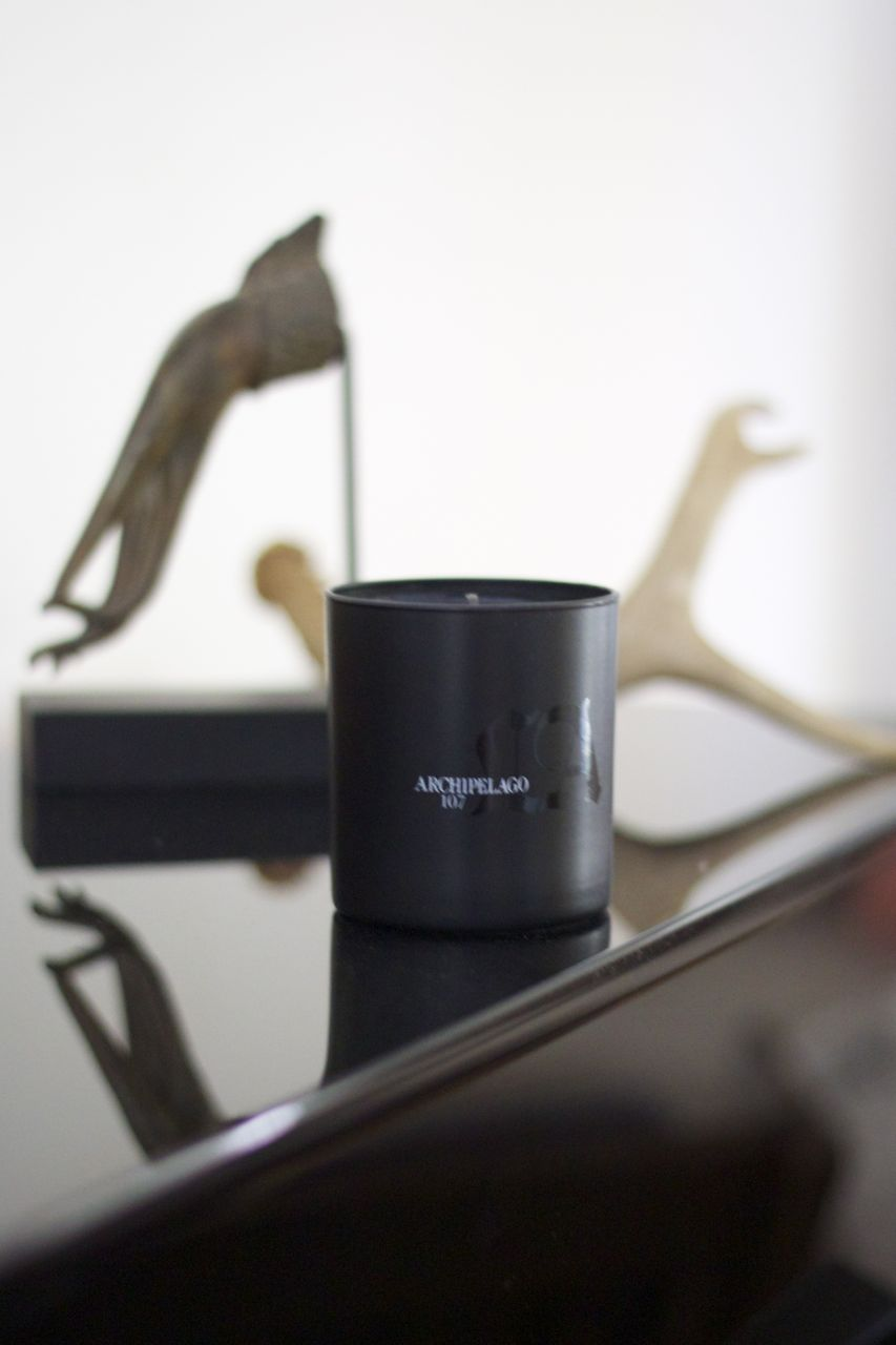 archipelago leather candle