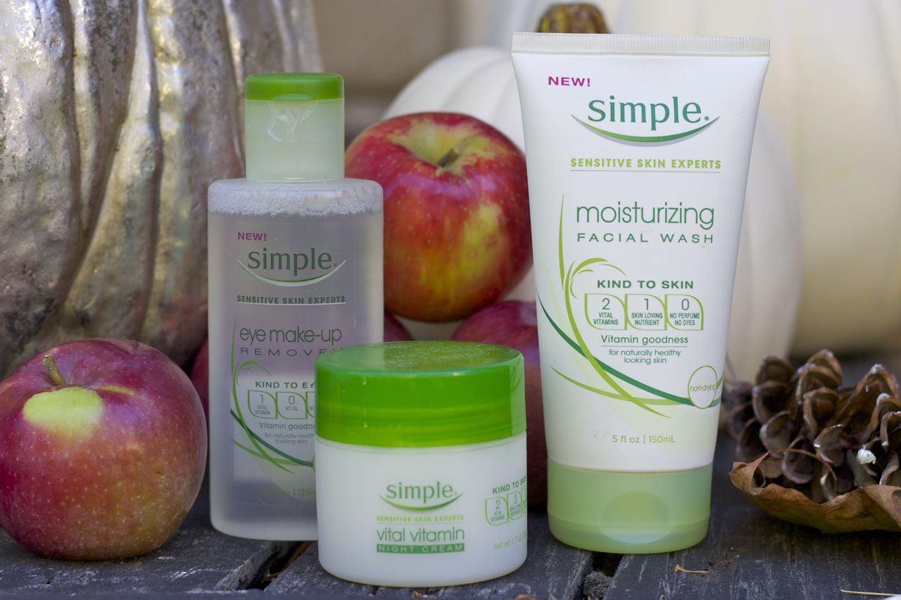 Simple Products skin tips for the similarly afflicted ramshackle glam