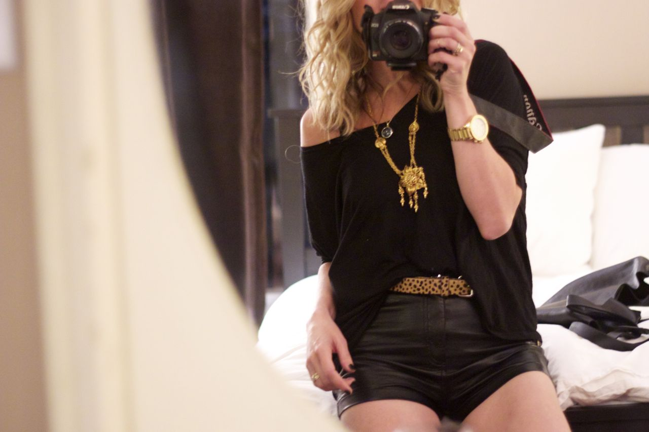 los angeles leather shorts