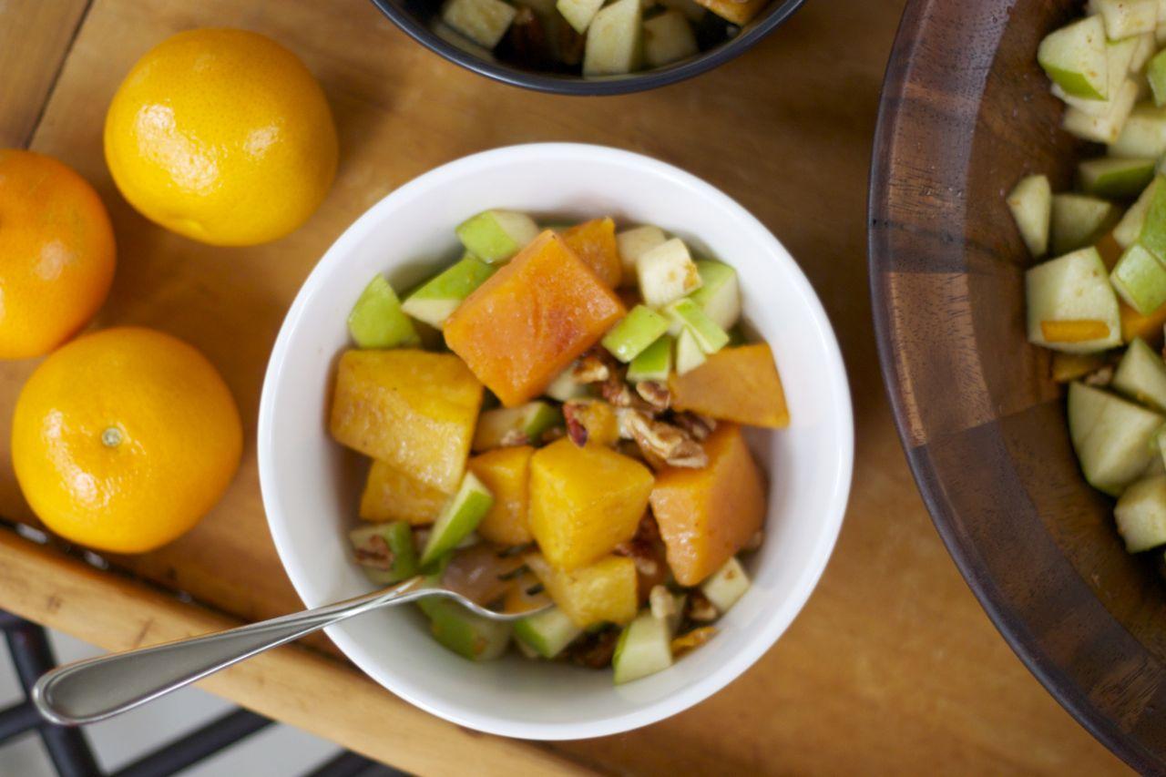 butternut squash green apple salad