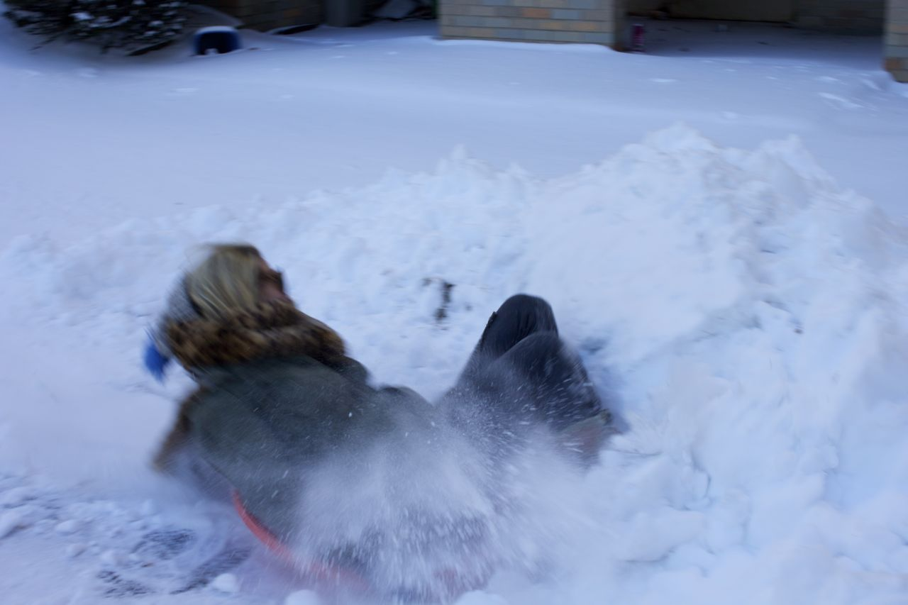 sledding crash