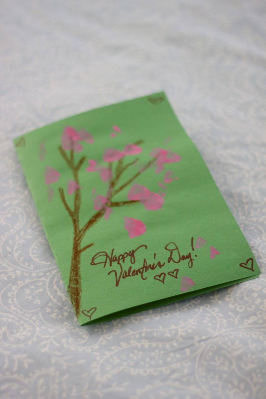 Diy Valentine S Day Cherry Blossom Card Ages 2 Ramshackle Glam
