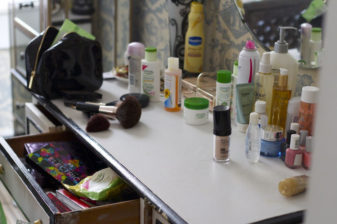 36083b6768 I ve said before that I have a pretty cluttered beauty cabinet…and here s  the hard evidence.