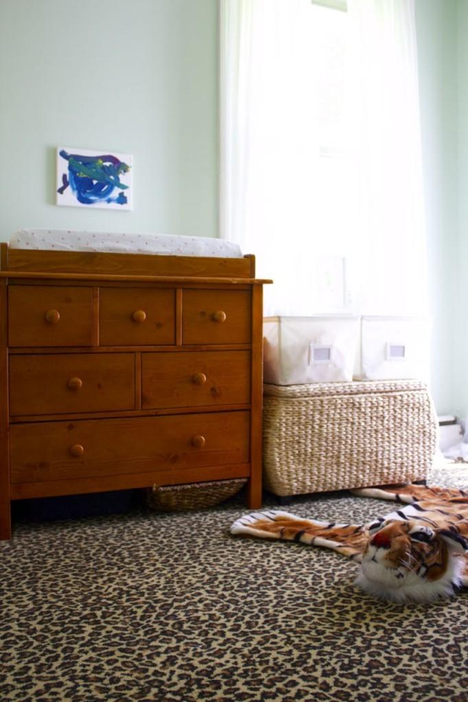 leopard carpet nursery