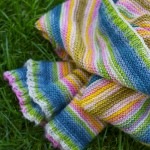 striped knit baby blanket
