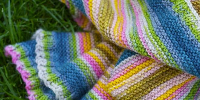 Easy Striped Baby Blanket Knitting Pattern : DIY Easy Striped Baby Blanket Ramshackle Glam