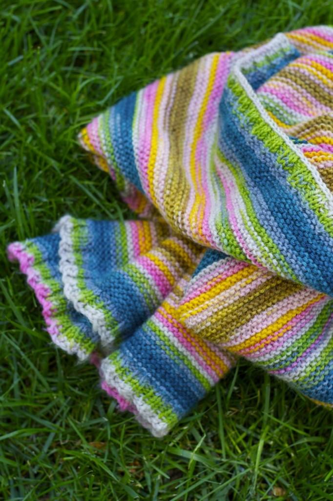 striped knit baby blanket