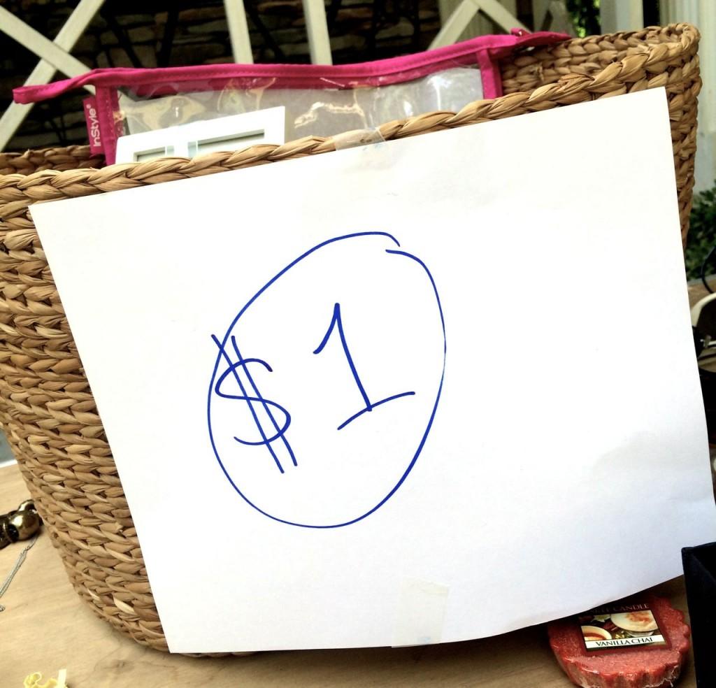 yard sale dollar box