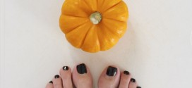 DIY Pumpkin Pedicure