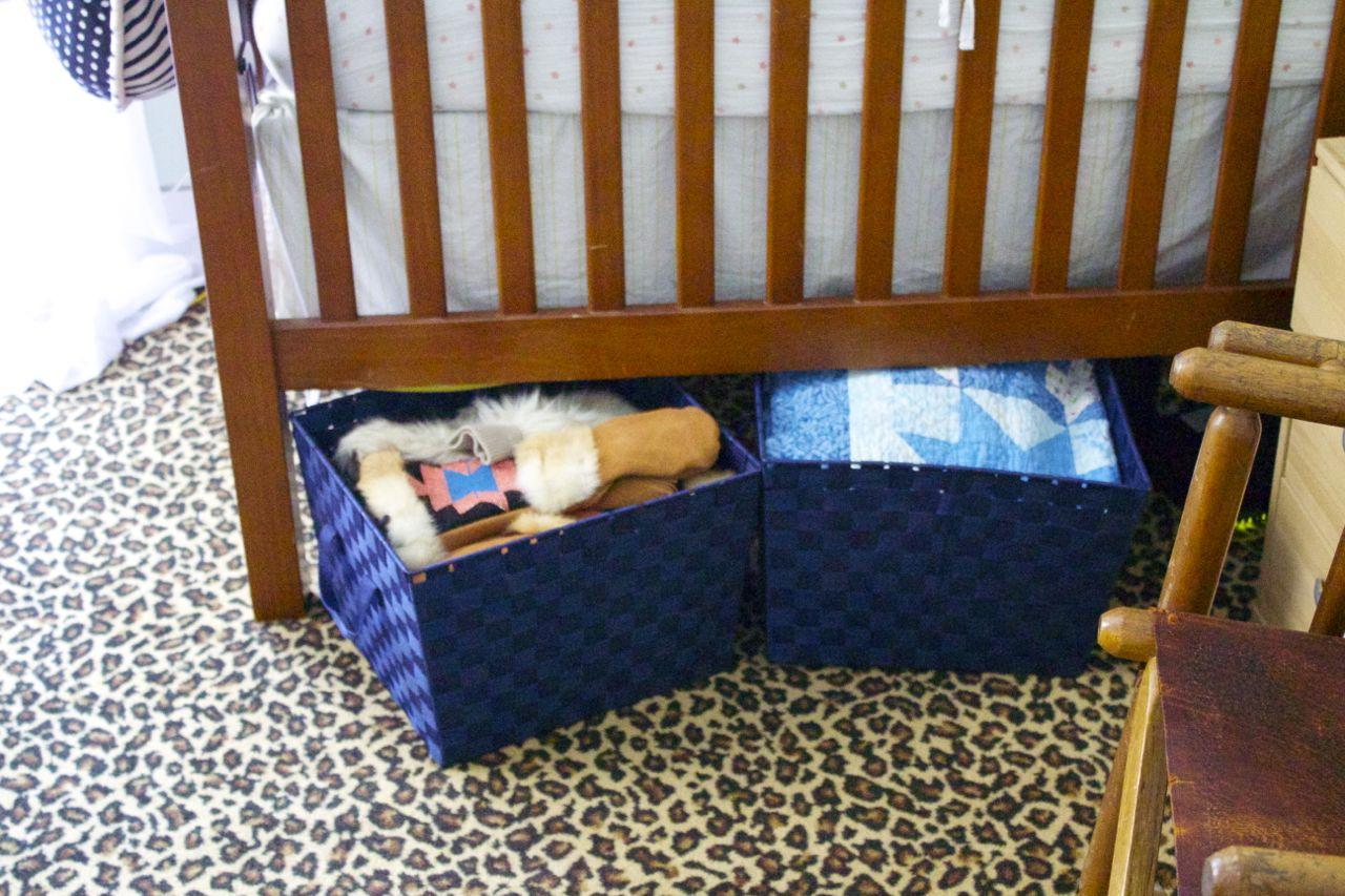 storage under crib