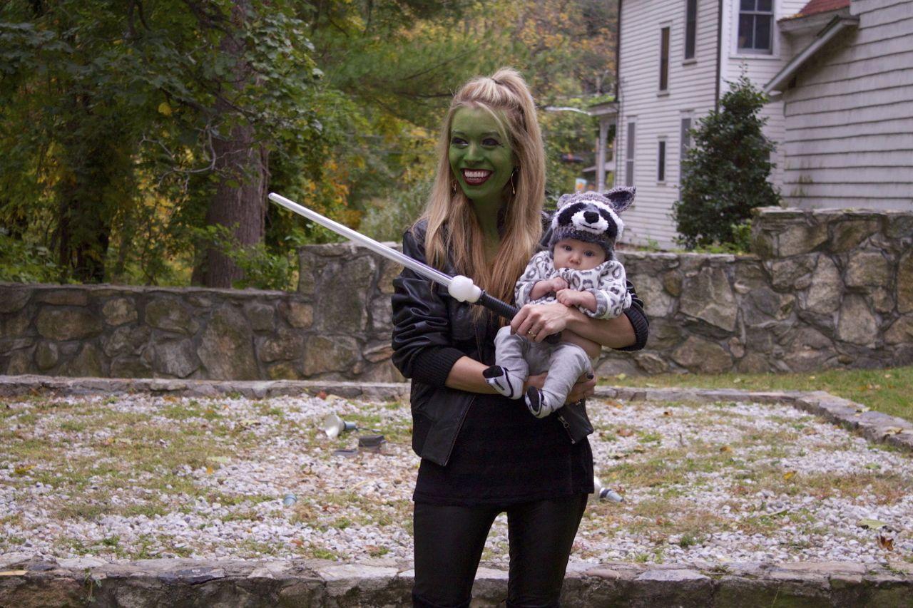 gamora and raccoon