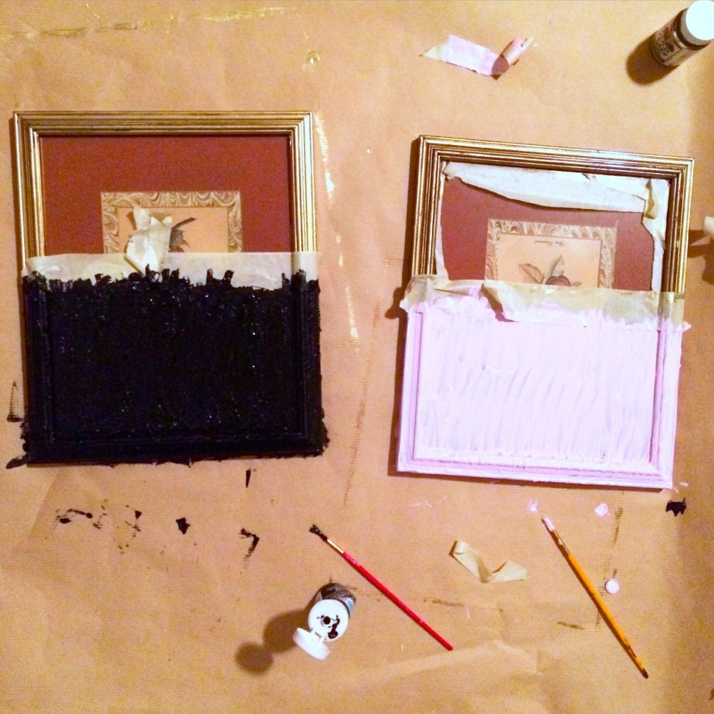 how to make dipped paintings