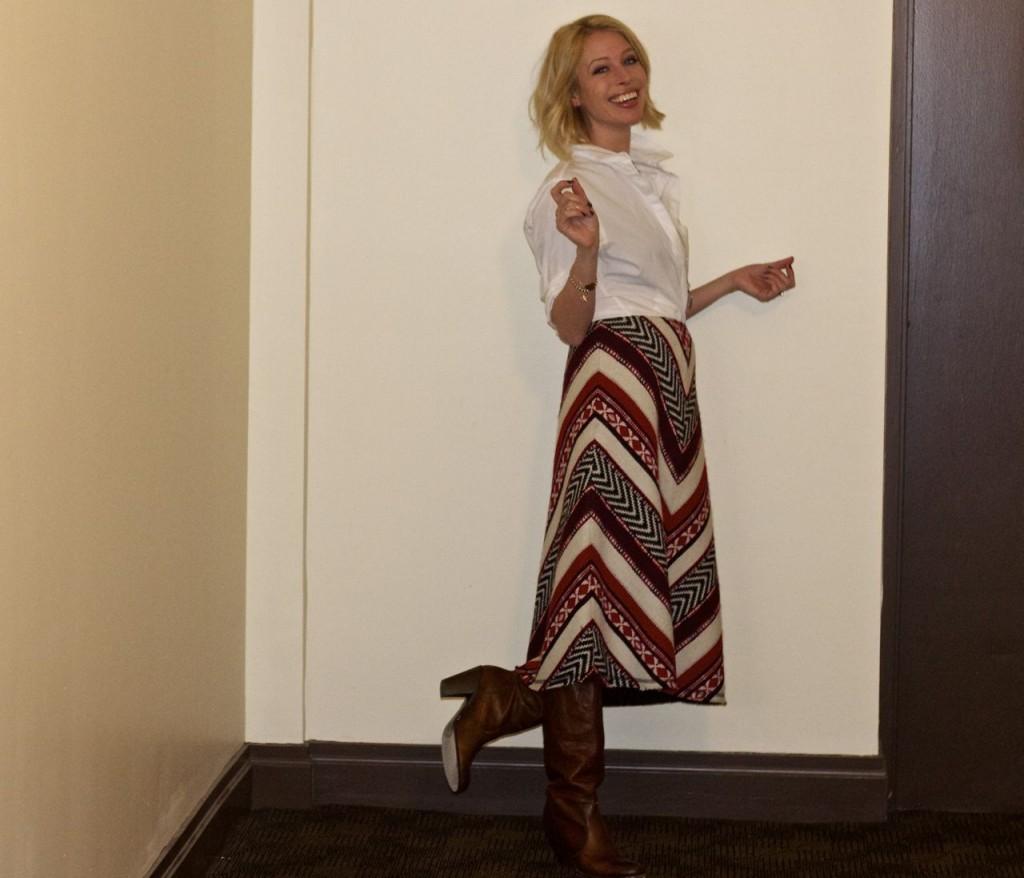 midi tapestry skirt