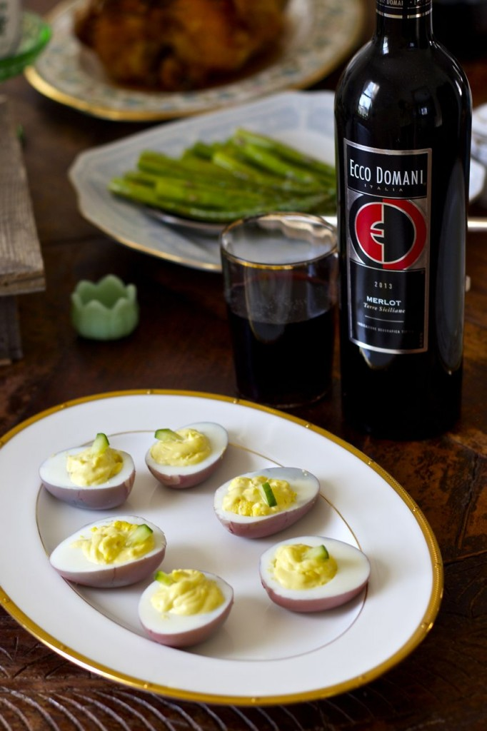 deviled egg wine
