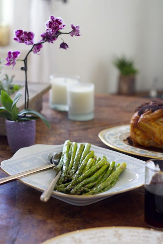 glazed asparagus