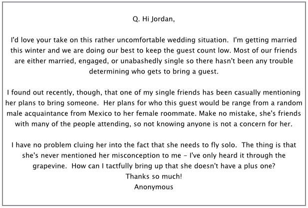 How to let your wedding guests know they dont get a plus one screen shot 2015 04 30 at 100922 am stopboris Choice Image