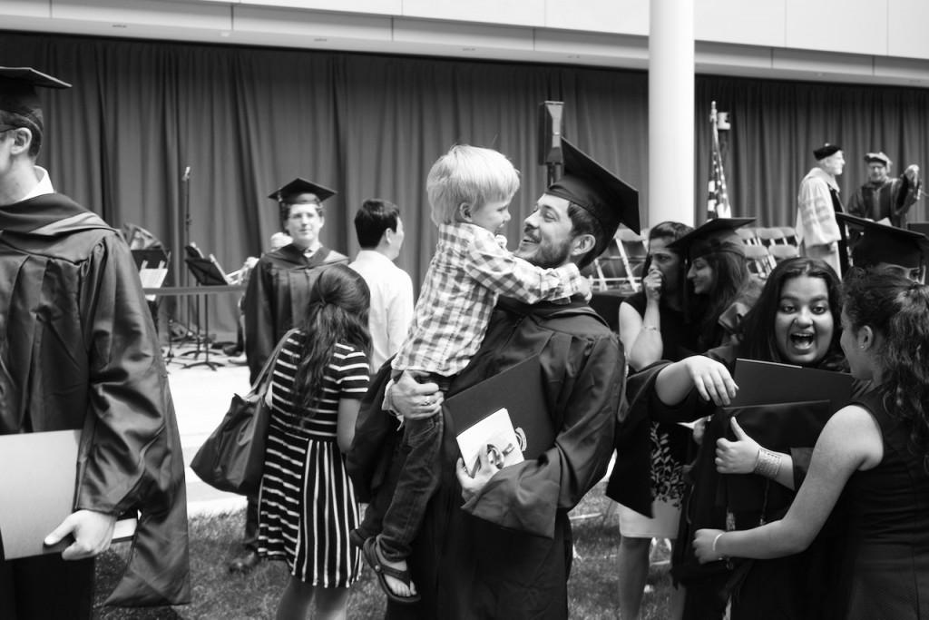 graduation father