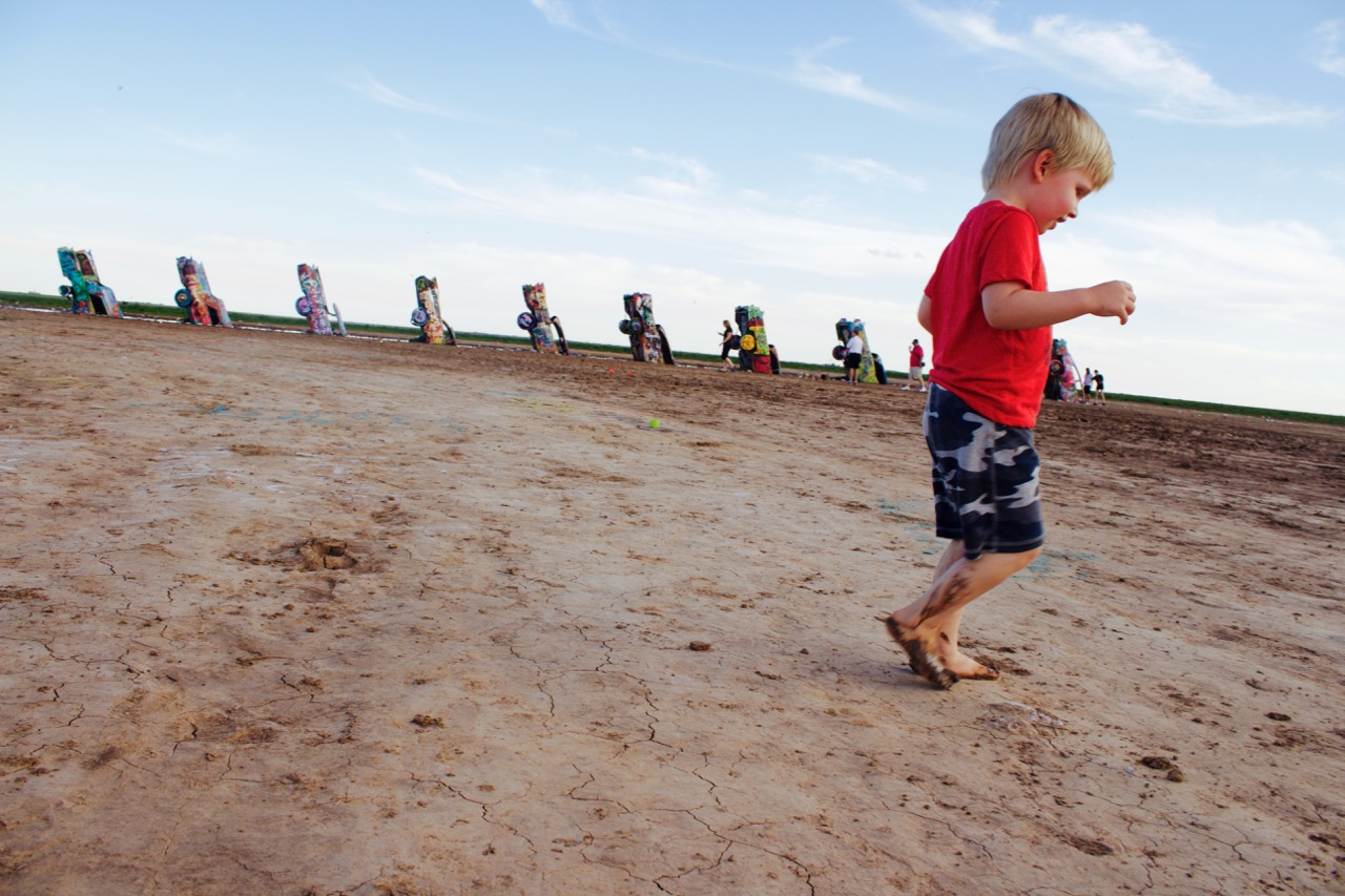 cadillac ranch route 66 road trip family