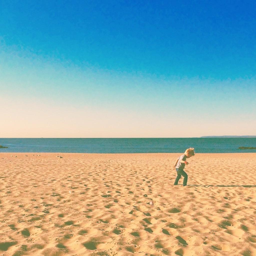 child beach sunrise coney island