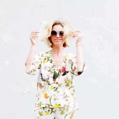 zara floral blouse silk jordan reid ramshackle glam