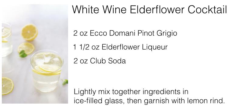 white wine elderflower cocktail recipe