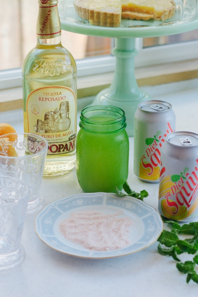 tequila squirt lemon salt