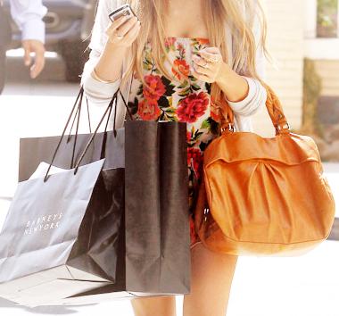 woman shopping spree