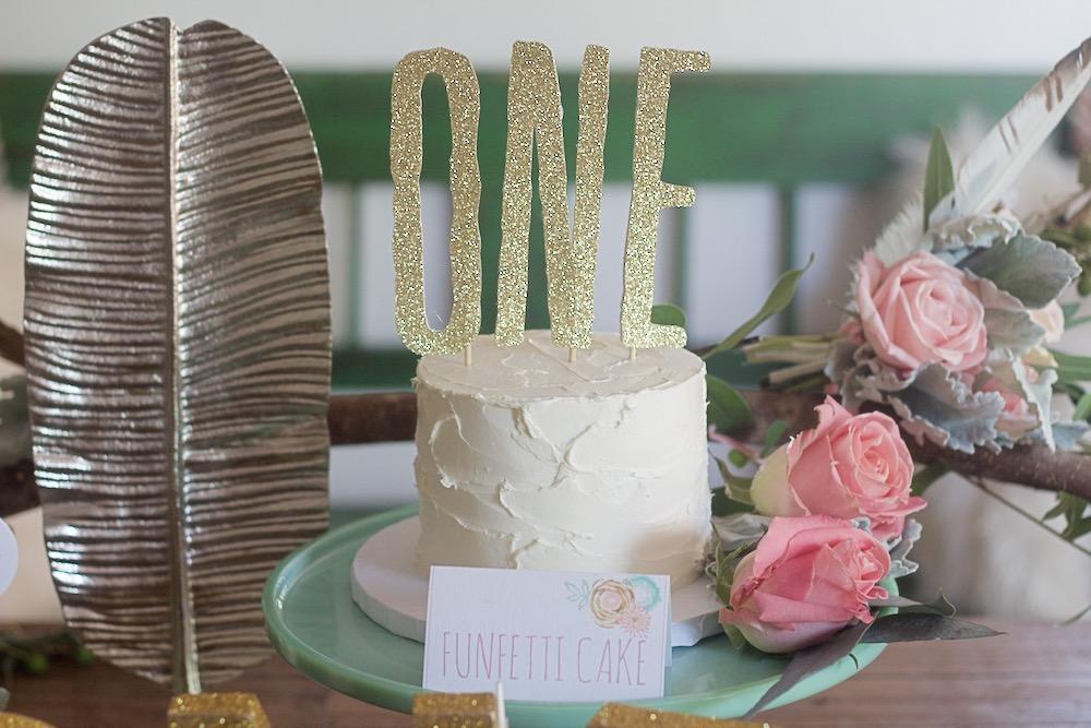 baby birthday funfetti cake