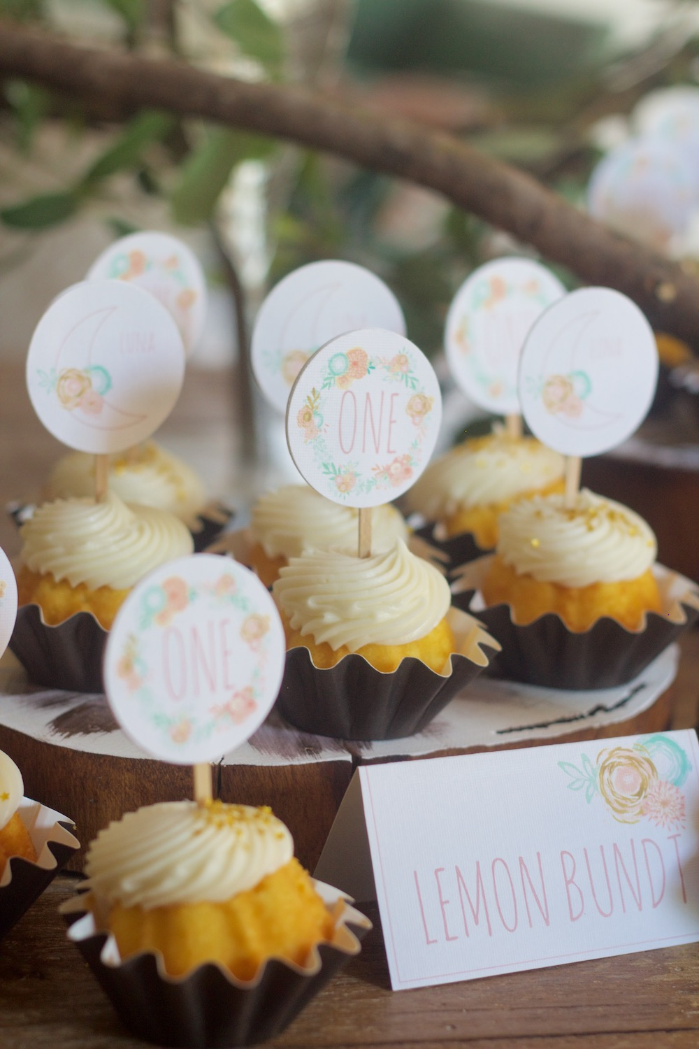 first birthday party cupcakes