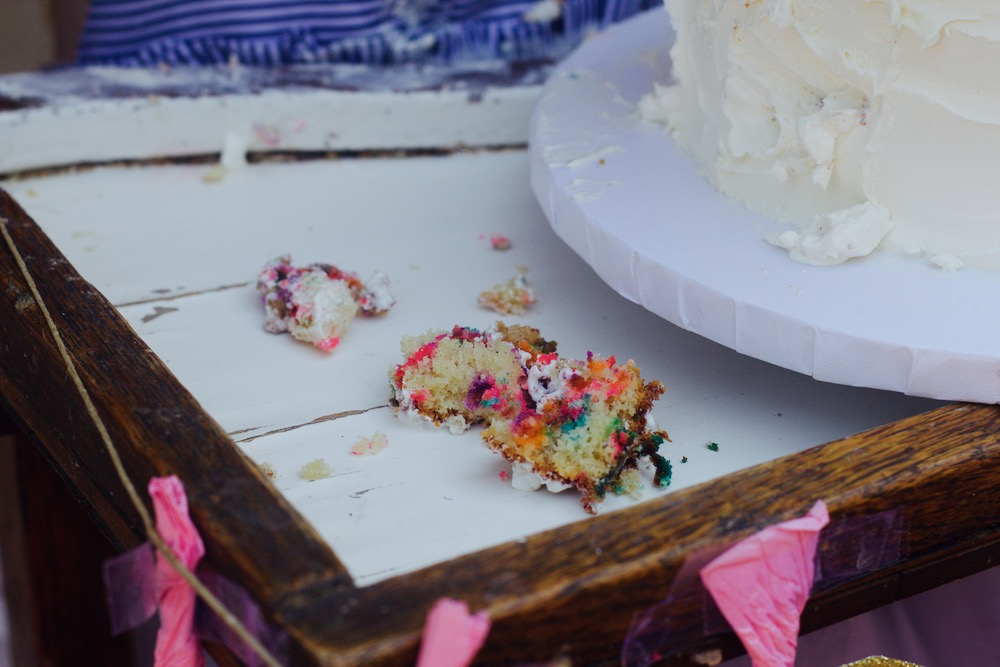 funfetti cake first birthday party