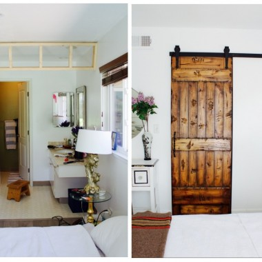 bathroom makeover barn door