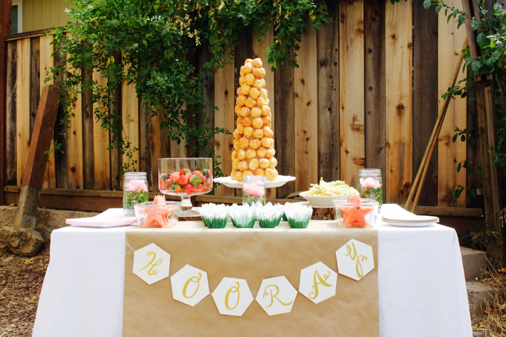 little girl birthday party table setting