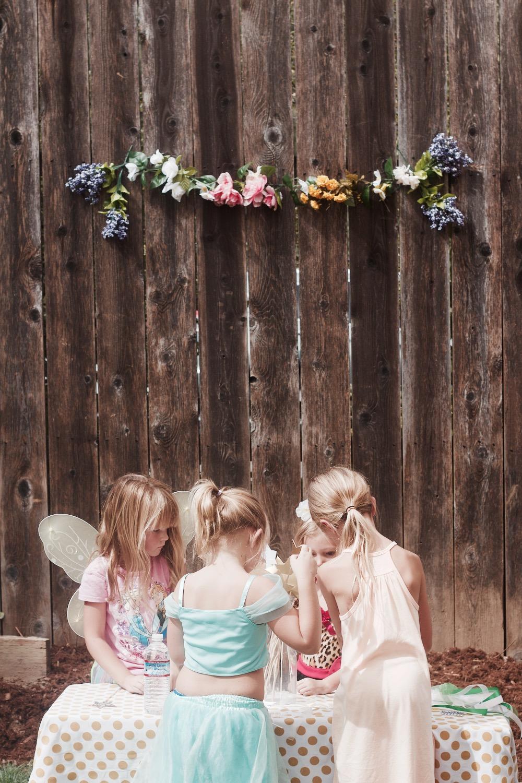 fairy party photo setup