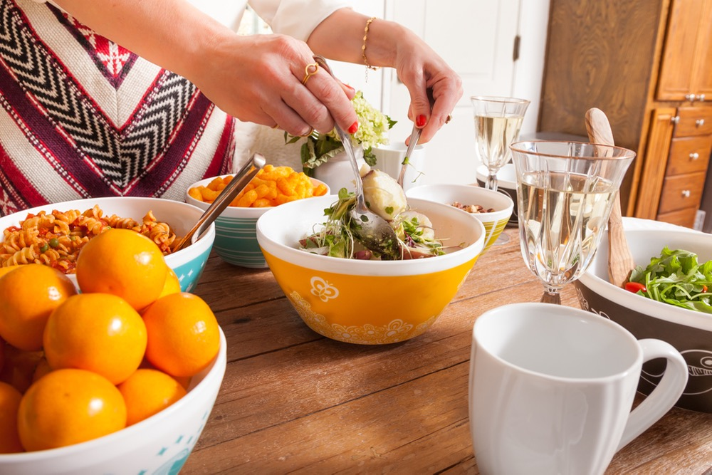 Vintage Charm retro bowls inspired by Pyrex patterns from the 1950s and 1960s