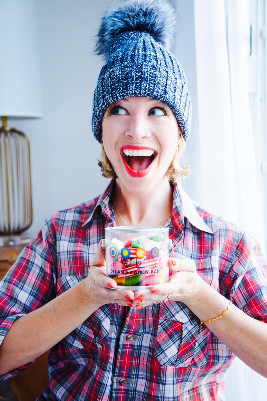 Jordan Reid in an Adrienne Landau hat