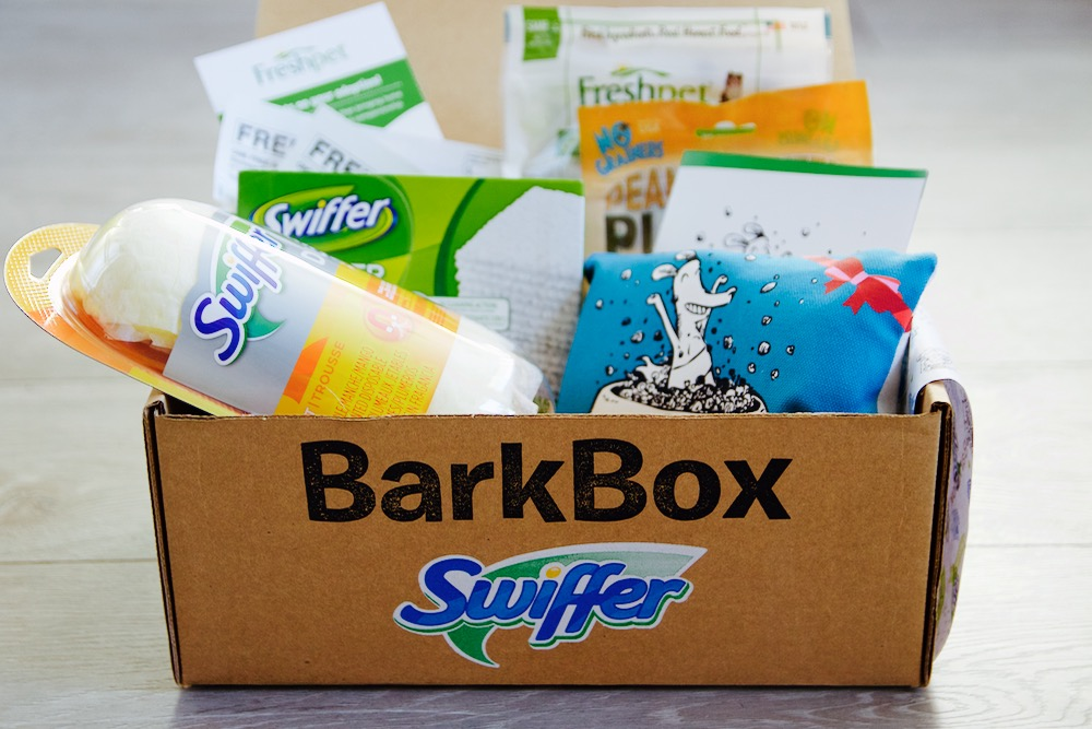 Swiffer and BarkBox's Welcome Home Kit for rescue animals