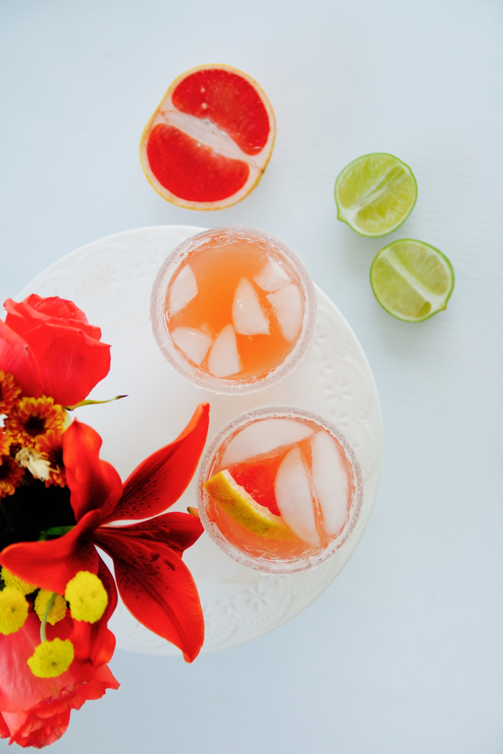 A grapefruit and tequila cocktail perfect for holiday entertaining