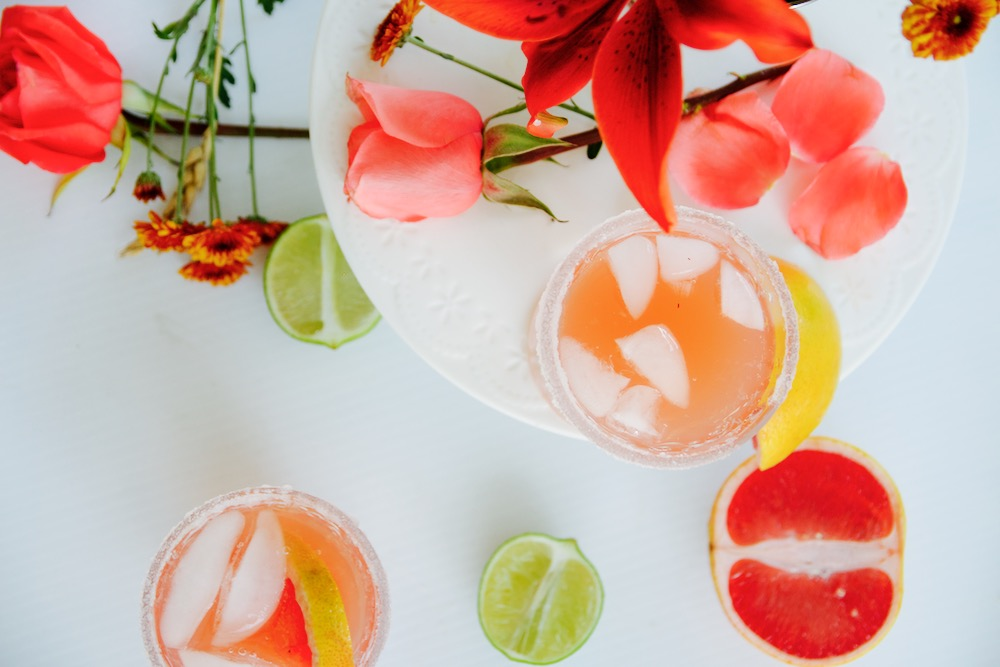 Paloma cocktail with grapefruit juice and tequila