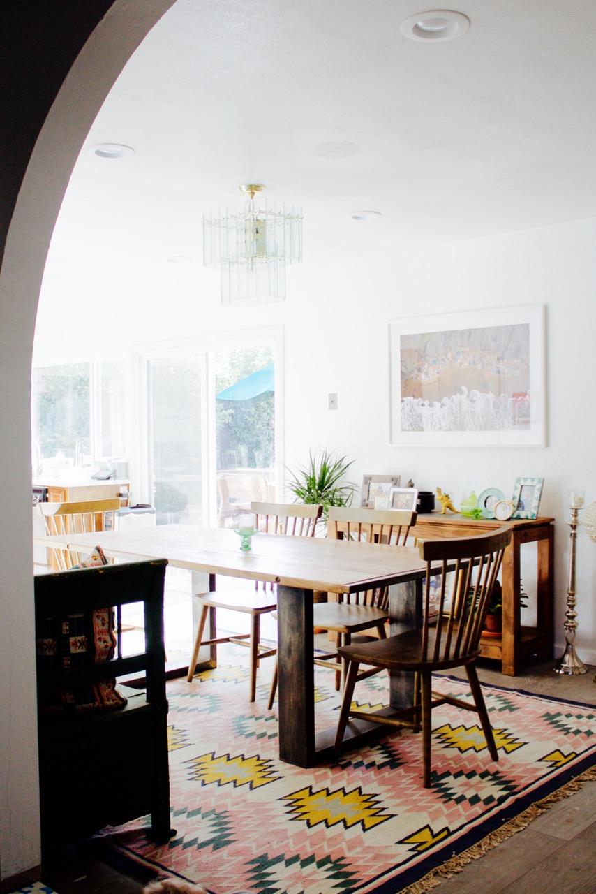 Bathroom tile makeover with paint ramshackle glam - Jordan Reid S Dining Room With A Lulu And Georgia Painted Desert Rug